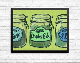 Cannibis Limited Editon Wall Art