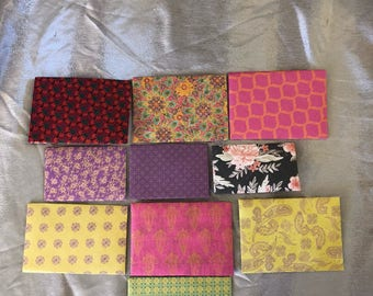 10 envelopes, different shapes & sizes.