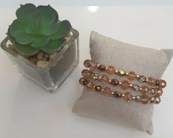 Amber Fire Gold Bracelet
