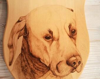 Pet portrait, pet loss gift, pet memorial, custom pet portrait, pet pyrography, dog portrait, cat portrait, wood portrait, pyrography art