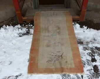 Turkey Carpet Bohemian Area Rug 86x158 cm. 2.8x5.2 ft. Vintage Floor Rug Anatolian Wool Rug Oushak Rug Faded Rug MB5