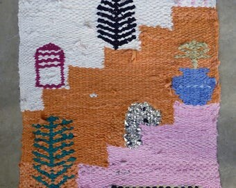 SUMMER - orange and pink tapestry