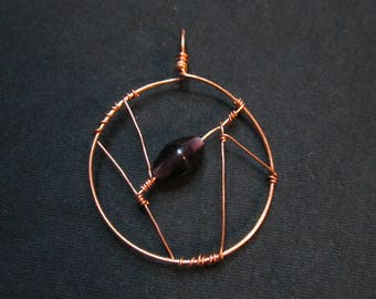 Angles with a bit of Purple Pendant