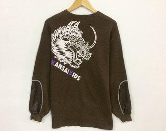 Rare!!! Vintage Kansai kids big logo sweatshirt