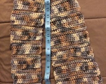 Fun, simple, tapered scarf - crochet