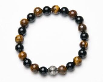 Mens-Women bracelet * Classic black & Brown */mens-Womens bracelet * Classic black-Brown *