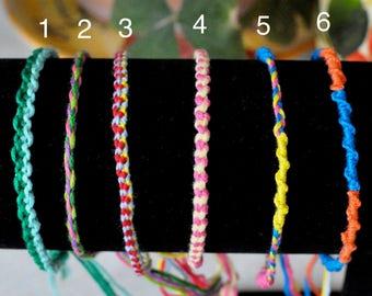Custom Friendship Bracelets (Thin)