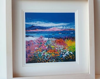 Jolomo framed art print- Scottish landscape painting- Front Gardens...Iona