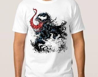 Venom Art T-Shirt, Marvel Comics Tee, All Sizes