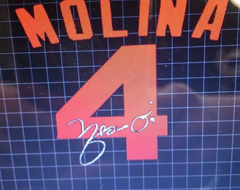 Molina #4 with autograph