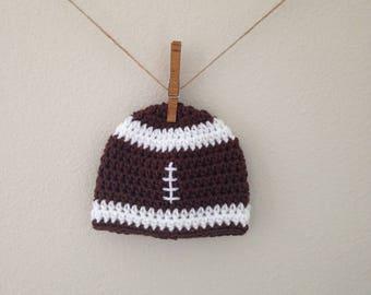 Football Beanie | Crocheted Hat