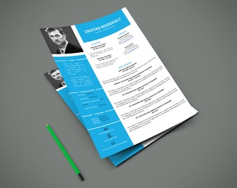 CV | Curriculum Vitae | Elegant and Modern CV | 100% editable | A4 | 2 Pages | Easy to Edit