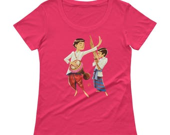Lao Boys Musicians Ladies' Scoopneck T-Shirt