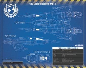 Buck Rogers Thunderfighter Print