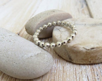Sterling Silver ball stackable ring