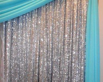 Silver Sequin Fabric