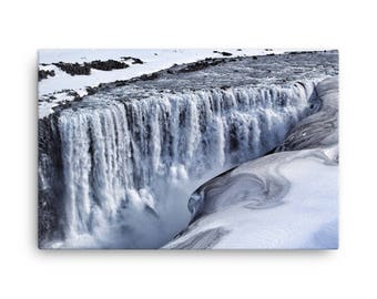 Dettifoss Waterfall in Iceland - Canvas