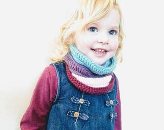 Crochet Willow Cowl PATTERN pdf (toddler, child, teen and adult sizes) UK crochet terms