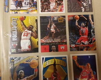 Nine Michael Jordan cards