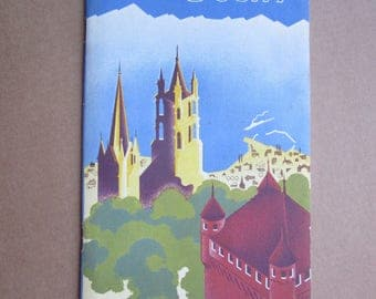Lausanne Swiss Switzerland tourist guide  from 1930ies