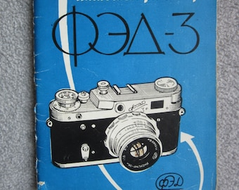 Photo Camera FED 3 manual and passport    soviet USSR Russia  1960ies