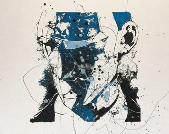 """Agamemnon_I, oil on paper, 16"""" x 16"""""""