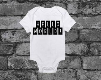 """Baby Onesie: """"Hello World"""""""