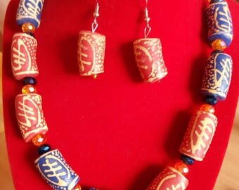 Gye Nyame Necklace and Earring