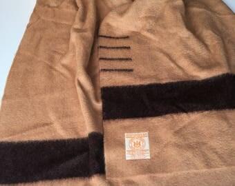Vintage Hudson Bay 4-Point Wool Blanket