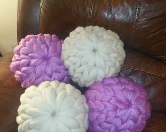 Merino wool handmade pillows