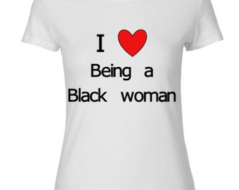 Black Woman Fitted Tee