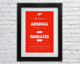 Arsenal FC Club Print