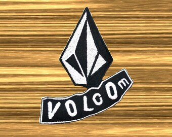 Volcom Logo Embroidered Iron On Patch Sports skateboard Brand