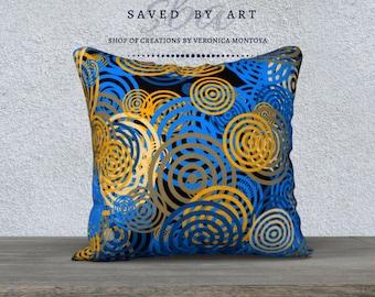 Abstract Pillow Case, Original Abstract Design, Home Decor, Abstract Art Pillow Case, Unique gift, Home and Living, Fun Pillow Case