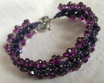 "Bracelet & Earrings ""Grape lollipop"" A68"