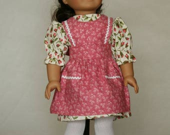 American Girl Dress with Pinafore