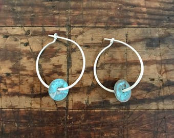 patina disk earrings