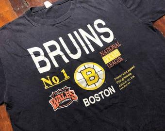 Vintage 1989 Boston Bruins T-Shirt size L