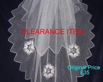 Wedding Veil - Winter/Snowflake theme!