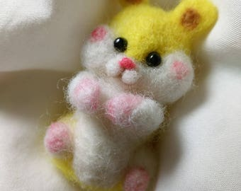 Small Hamster 2.5 Inches tall Needle Felted