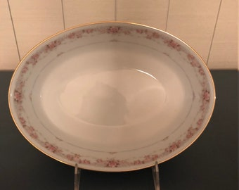 Noritake Morning Blush Oval Vegetable Bowl
