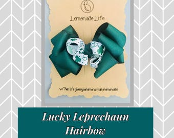St. Patrick's Day hairbow