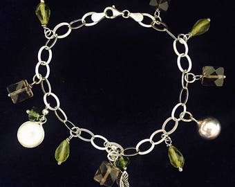 Silver handmade wristlet