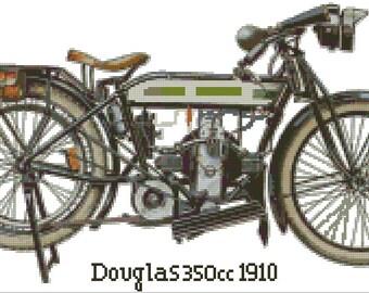 Cross stitch chart Doudlas 350CC MT-004