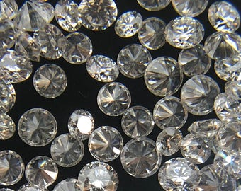 2.10MM to 2.50MM 100% Natural Round Diamonds Loose Gemstone G-H Color VS Clarity
