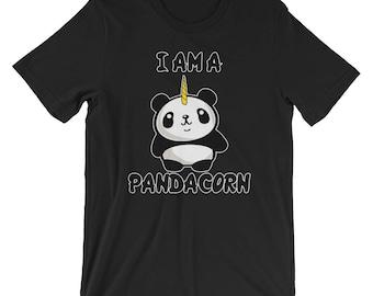 I Am A Pandacorn T-shirt Panda Lover Tee
