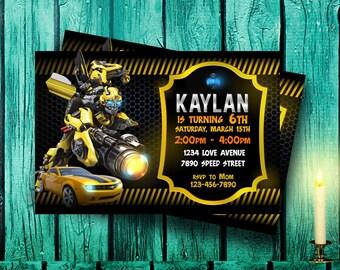 Transformer Invitation,Transformer Birthday,Transformer Party,Transformer Birthday Party,Transformer Birthday Invitation,Transformer-F0144