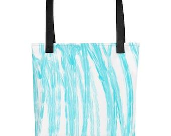 Blue paint Tote bag
