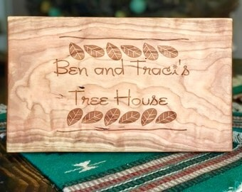 Custom engraved cutting board/sign