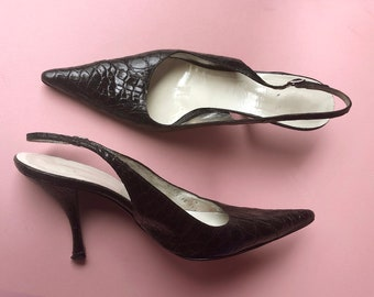 Authentic DOLCE & GABBANA Pointed Toe Slingback Pumps